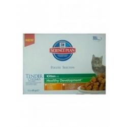 Hill's Science plan Feline Kitten Multipack Kurczak + Indyk saszetki 12x85g