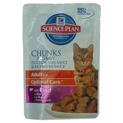 Hill's Science Plan Feline Adult Wołowina saszetka 85g