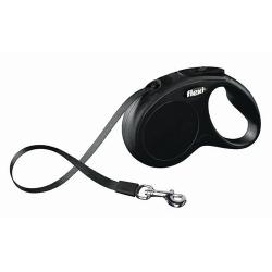 Flexi New Classic Smycz taśma S 5m czarna [FL-3228]