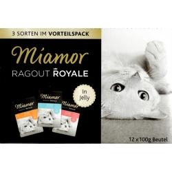 Miamor Ragout Royale Mix Galaretka - indyk, łosoś, cielęcina saszetki 12x100g