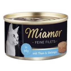 Miamor Feine Filets Dose Thunfisch & Shrimps - tuńczyk i krewetki 100g