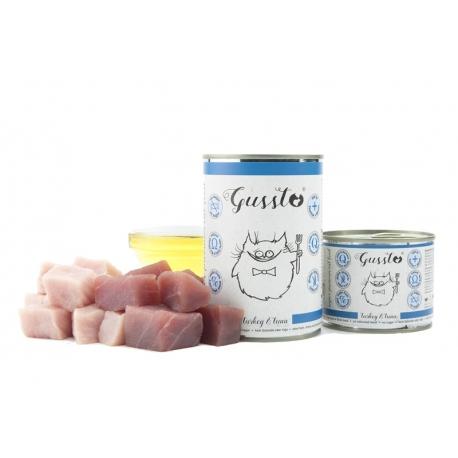 Gussto Fresh Turkey&Tuna - świeży indyk z tuńczykiem - karma mokra 400 g