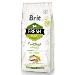 Brit Fresh Dog Adult Active Duck & Millet 12kg