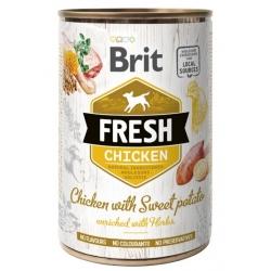 Brit Fresh Dog Chicken with Sweet Potato puszka 400g