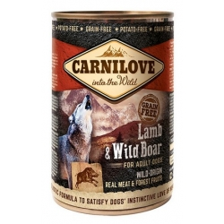 Carnilove Dog Wild Meat Lamb & Wild Boar Adult - jagnię i dzik puszka 400g