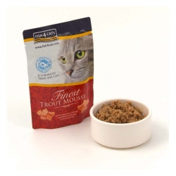 Fish4Cats Finest Trout Mousse for Cats - Mus z Pstrąga w saszetkach 100G
