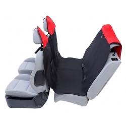 Kardiff Activ Mata samochodowa na tylne fotele z zamkiem L czarno-czerwona