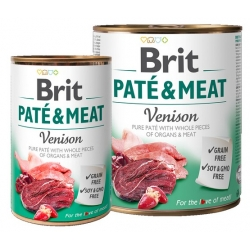 Brit Pate & Meat Dog Venison puszka 800g
